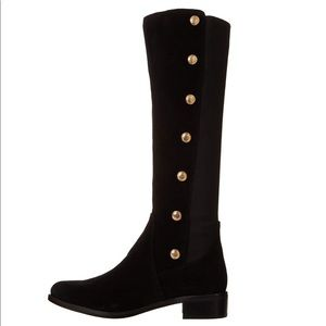 🖤Vince Camuto Suede boots w/gold buttons & zipper